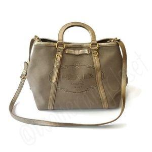PradaLogo JacquardTwo Way Handheld Shoulder Bag
